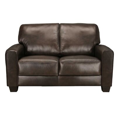World Class Furniture Camaro Leather Loveseat