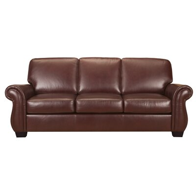 World Class Furniture Maine Leather Living Room Collection 2 Piece Set