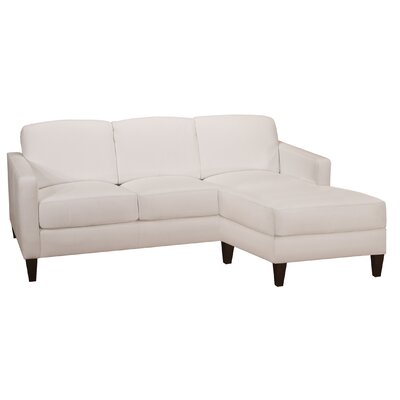 World Class Furniture Malo Leather Sectional