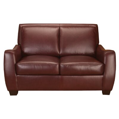 World Class Furniture Matheson Leather Loveseat