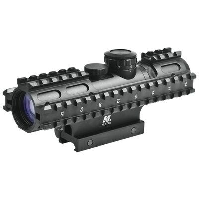 NcSTAR 2-7x32 Compact Scope 3 Rail Sighting System / Blue Illuminated / Weaver Mount / in Green