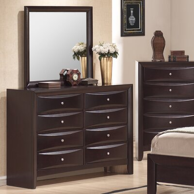 Greystone Avery 8 Drawer Dresser and Mirror Set | Wayfair