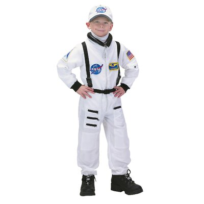 Aeromax Jr. Astronaut Suit with Embroidered Cap Costume in White
