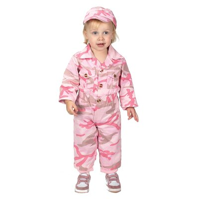 Aeromax Jr. Camouflage Suit with Cap for 18 Months Costume in Pink