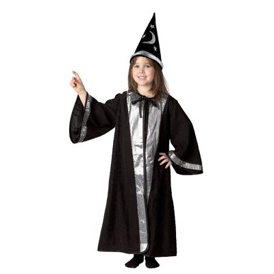 Jr. Wizard with Cone Hat for 4-9 Years Old Costume