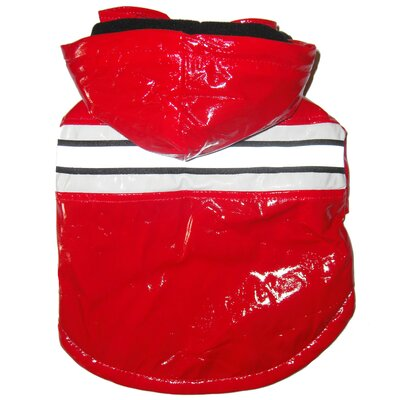 Pet Life Reflecta Glow Dog Raincoat with Removable Hood in Red