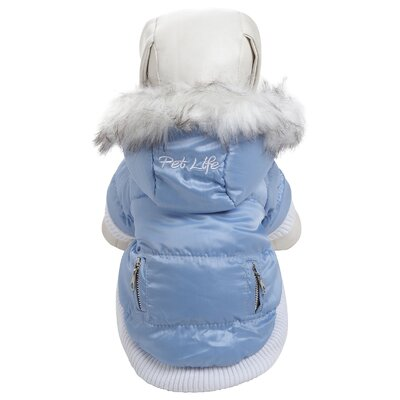 Pet Life Metallic Fashion Dog Parka with Removable Hood