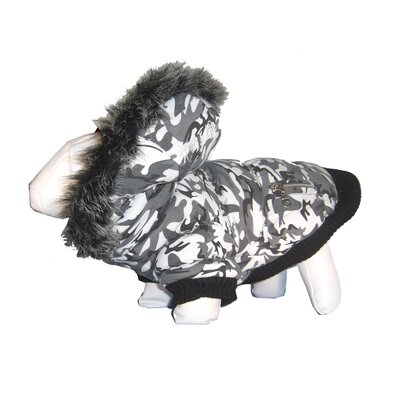 Pet Life Metallic Dog Parka with Removable Hood