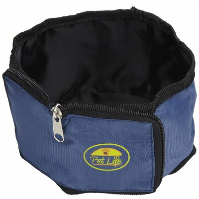 Pet Life Single Wallet-Sized Travel Pet Bowl