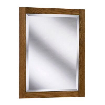 "Coastal Collection Amalfi Series 24"" x 33"" Red Oak Framed Mirror in Autumn Finish"