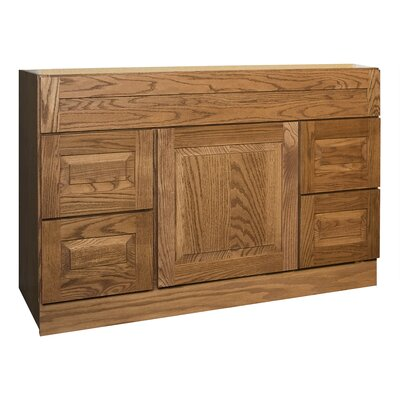 "Coastal Collection Amalfi Series 48"" Red Oak Bathroom Vanity Base"