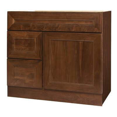 "Coastal Collection San Remo Series 36"" Black Walnut Bathroom Vanity Base"