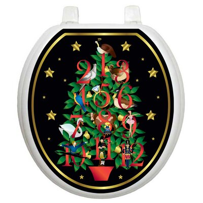 Toilet Tattoos Holiday Twelve Days Of Christmas Toilet Seat Decal