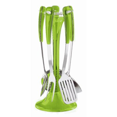 Guzzini Latina Five Piece Kitchen Utensil Set in Green