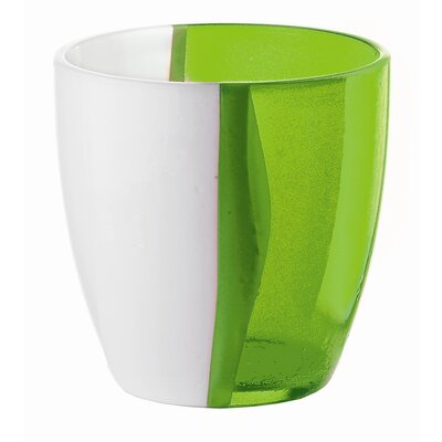 Guzzini Happy Hour Two Toned Water Glass in Green