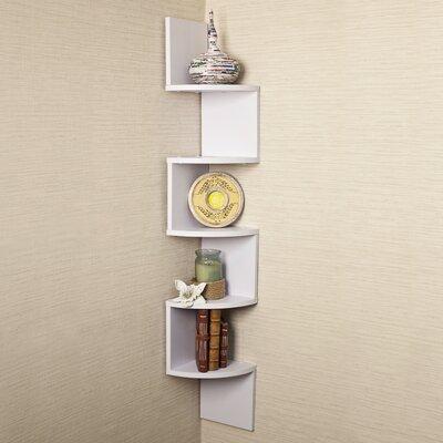 Danya B Corner Zig Zag Wall Shelf