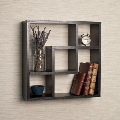 Danya B Geometric Square Wall Shelf with 5 Openings