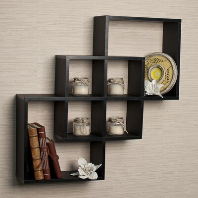 DanyaB 3 Intersecting Decorative Wall Shelf