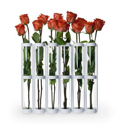 Danya B Tall Six Tube Hinged Vase