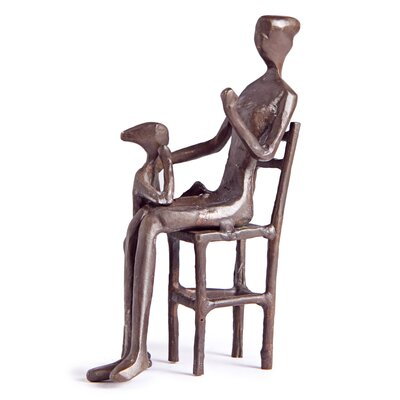 Mother with Child Figure Figurine