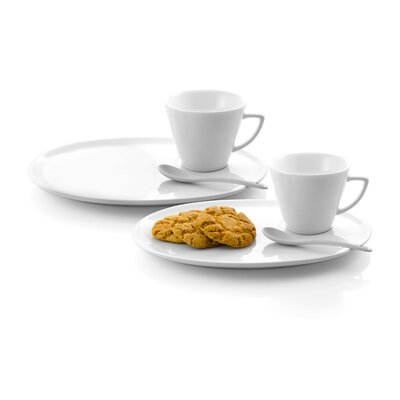 Danya B Dessert Plate with Coffee Cup and Spoon