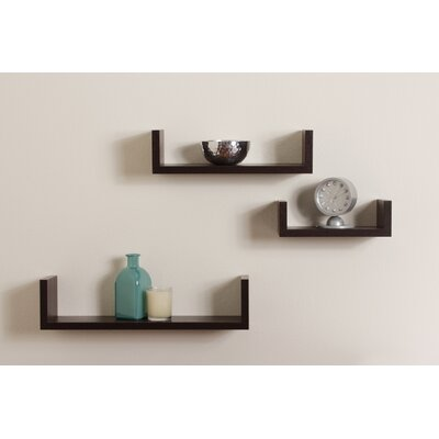 DanyaB Floating U Shelf (Set of 3)
