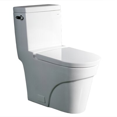 Ariel Bath Oceanus Contemporary 1.6 GPF Elongated 1 Piece Toilet