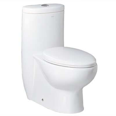 Ariel Bath Hermes Contemporary Elongated 1 Piece Toilet