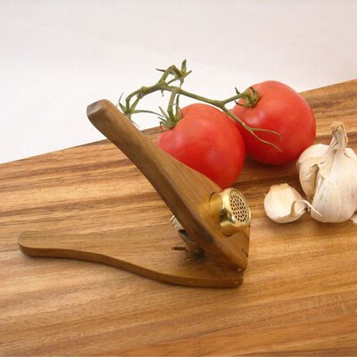 Enrico EcoTeak  Garlic Press in Lacquer
