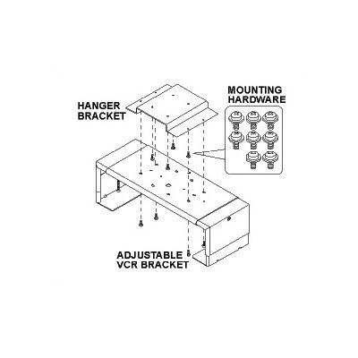 Peerless Medium VCR/DVD Bracket for Peerless Jumbo Mounts (JMC, JMW, JMS series)