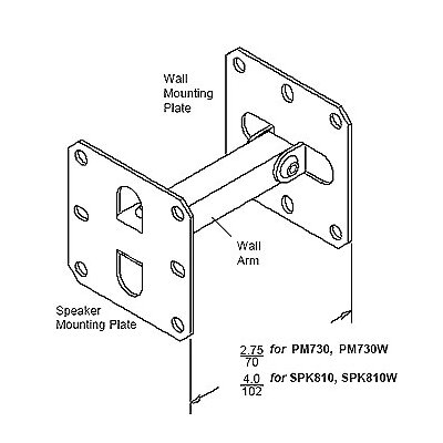 Peerless Universal Speaker Mounts