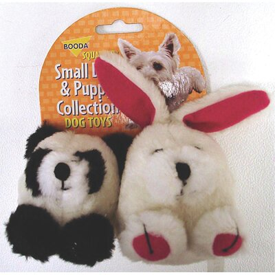 BOODA Pet Products Squatter Panda/Rabbit Dog Toy (2 Pack)