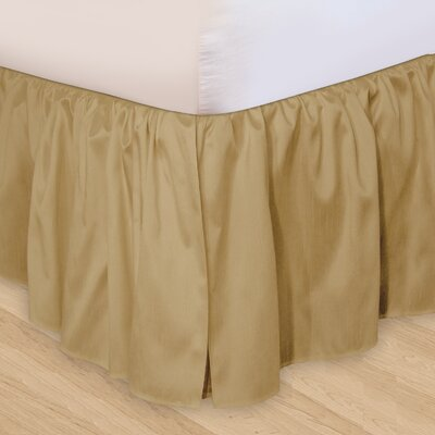 "Veratex, Inc. ""Hike Up Your Skirt"" Ruffled Bedskirt in Taupe"
