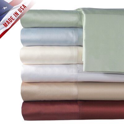Veratex Supreme Sateen 500 Thread Count Solid Sheet Set