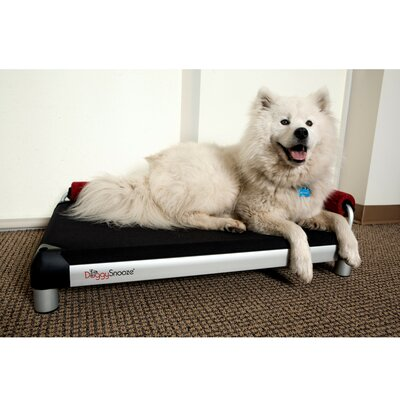 DoggySnooze SnoozeLounge Dog Bed with a Black Anodized Frame