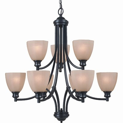 Royce Lighting Monroe 9 Light Chandelier