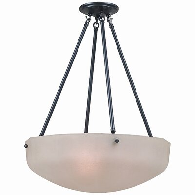 Monroe 3 Light Inverted Pendant