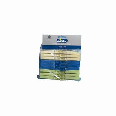 Minky Homecare 36 Pack of Plastic Pegs