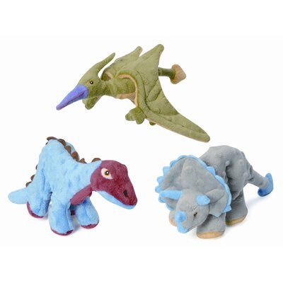 Go Dog Mini Dinos Terry the Flying Terradactyl Dog Toy with Chew Guard
