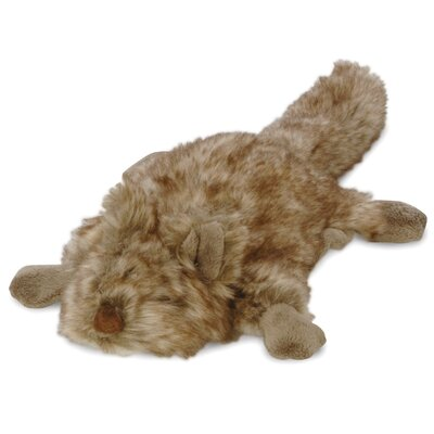 Go Dog Furry Flatties Quirrely the Squirrel Dog Toy