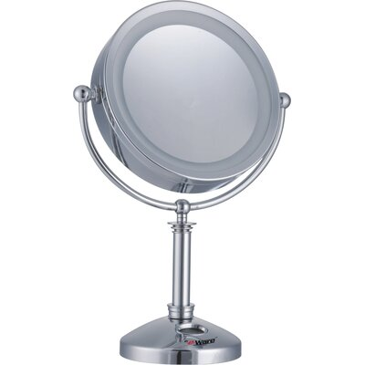 10x 1x large 24 led lighted touch control makeup mirror with clock. Black Bedroom Furniture Sets. Home Design Ideas