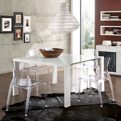 Fashion Dining Table with Crystal Chairs