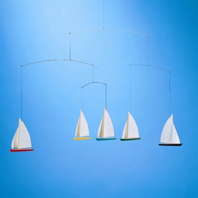Flensted Mobiles Dinghy Regatta Mobile with Five Ships