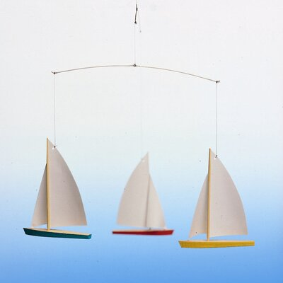 Flensted Mobiles Dinghy Regatta  Mobile with Three Ships