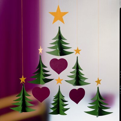 Flensted Mobiles Six Christmas Tree Mobile