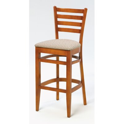 Melissa Ladder Back Wood Barstool