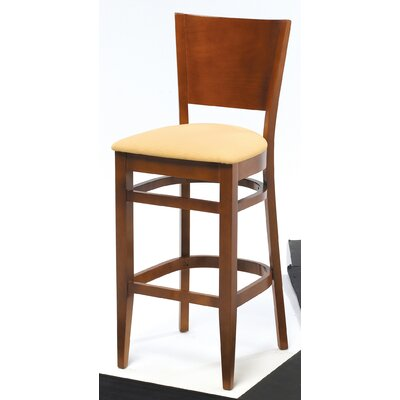 "Grand Rapids Chair Melissa Solid Back Wood Barstool (24"" - 31.5"" Seats)"