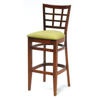 Melissa Window Back Wood Barstool (24