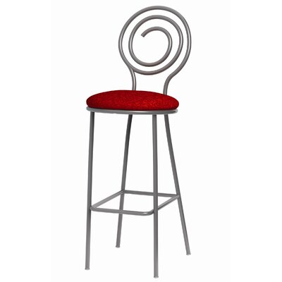 Spiral Bar Stool with Cushion