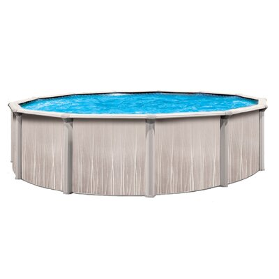 "Trevi Aqua Mate by Trevi Round 52"" Deep Deluxe Above Ground Pool"